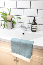 Load image into Gallery viewer, Waffle Weave Bath Mat - Blue
