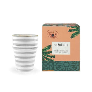 Moroccan Orange Blossom Candle - Grey Stripe