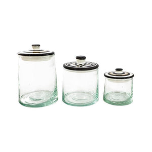 Moroccan Glass Jar - Medium