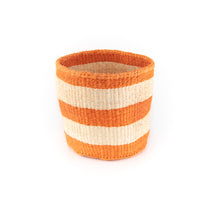Load image into Gallery viewer, Sisal Basket - Orange Stripe