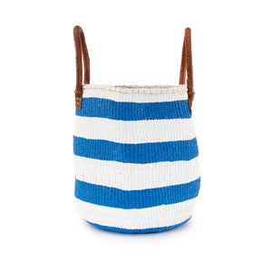 Sisal and Recycled Plastic Basket - Striped (Medium)