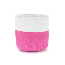 Load image into Gallery viewer, Sisal and Recycled Plastic Bucket Basket - Block Stripe