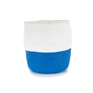Sisal and Recycled Plastic Bucket Basket - Block Stripe