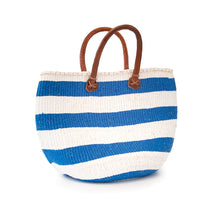 Load image into Gallery viewer, Sisal and Recycled Plastic Basket - Striped (Medium)