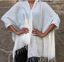 Load image into Gallery viewer, Ari - Handwoven Cotton Shawl