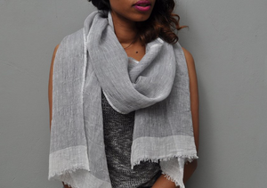 Mariam - Handwoven Pure Linen Scarf