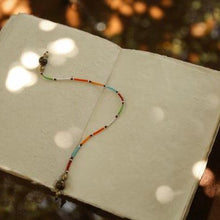 Load image into Gallery viewer, Beaded Bookmark in Maasai Colours