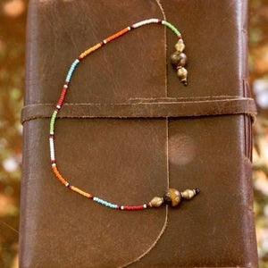Beaded Bookmark in Maasai Colours