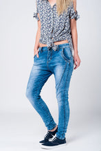 3D effect Low Boyfriend Jeans
