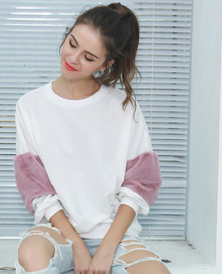 White Casual Sweater