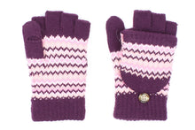 Unisex Chevron Fingerless Mitten Gloves