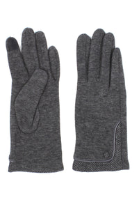 Womens Herringbone Lined Texting Gloves
