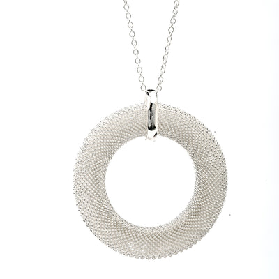 Mirabella Sterling Silver Mesh Necklace