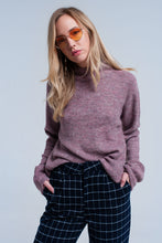 Soft knit lilac sweater