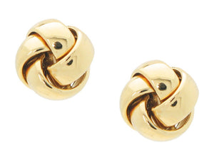 Grande Golden Love Knot Earrings