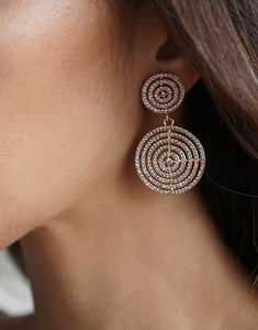 Izoa Rouge Earrings Rose Gold