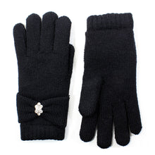 Womens Rhinestone Winter Gloves Lined