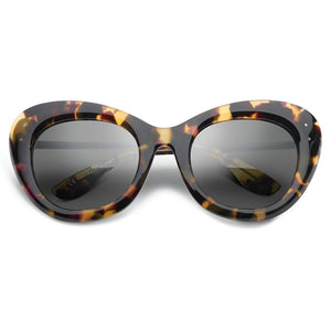 Faye: Polished Vintage Tortoise - Polished Black / Grey Lens