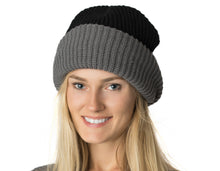 Womens Reversible Slouchy Beanie Hat Lined