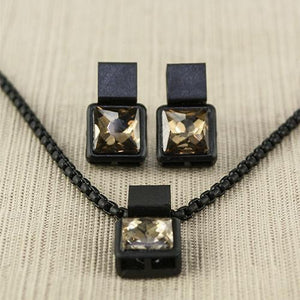 Coal Necklace-Tan