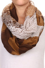 Mixed Print Wide Infinity Scarf Lightweight