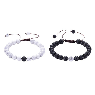 2 Pc Couples Distance Natural Stone Beaded Bracelets