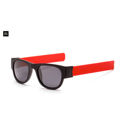 Women's Folding Slap on Wristband/Polarized Sunglasses