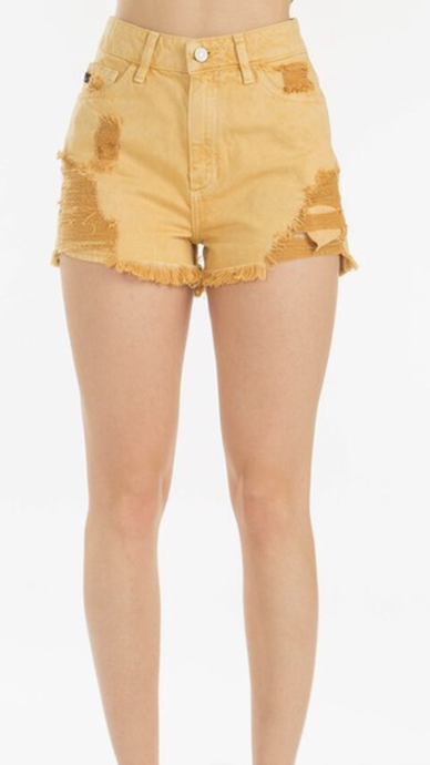 Golden Skies High Waist Shorts