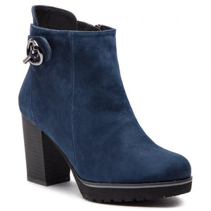 CAPRI Navy Blue Suede Shoes