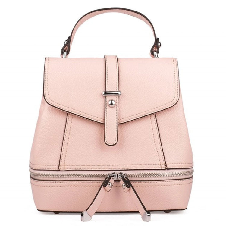 MOJO Pink Leather Backpack