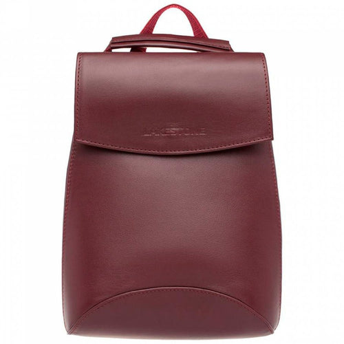 LAKESTONE Red Leather Backpack