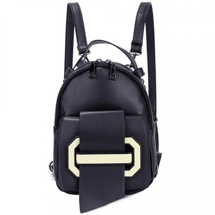ASGARD Black Leather Backpack