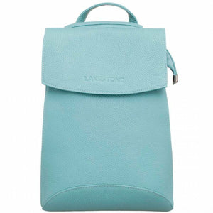 LAKESTONE Blue Leather Backpack
