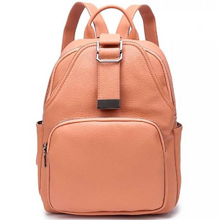 MOJO Orange Leather Backpack
