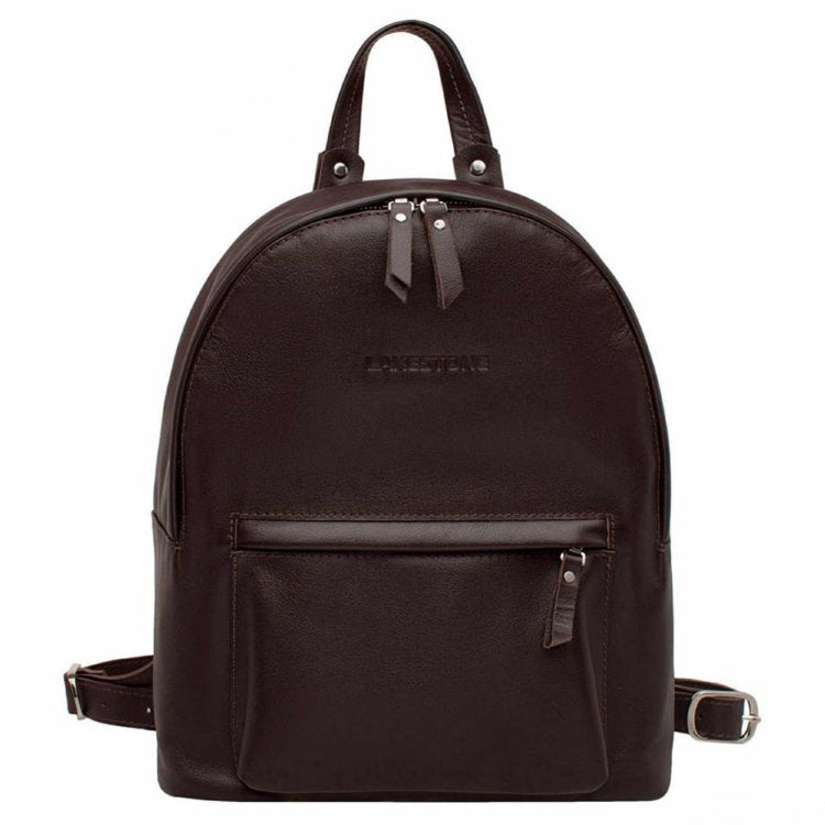 LAKESTONE Dark Brown Leather Backpack