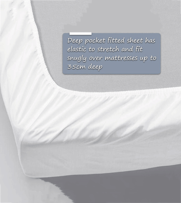 Fitted Sheets. To build a dream-worthy bed, begin with the Fitted Sheet