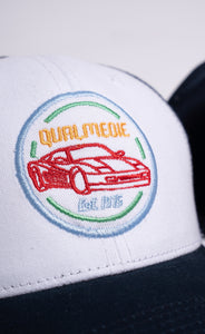 Qualmedie Trucker Cap Round Badge dunkelblau