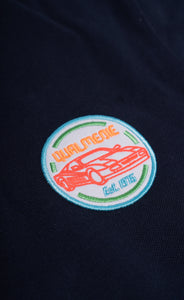 Qualmedie Polo-Shirt Badge dunkelblau