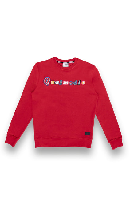 Qualmedie Sweater Mixed Letters rot