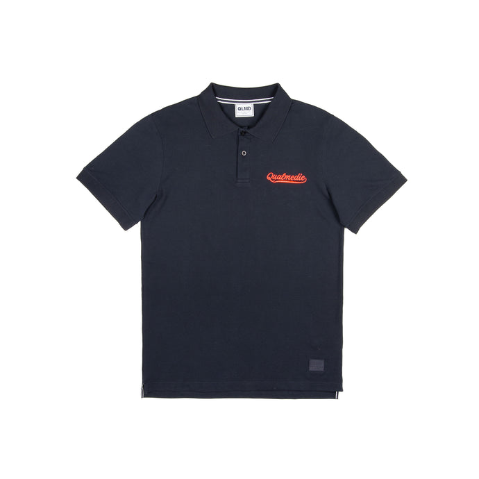 Polo-Shirt Qualmedie College dunkelblau