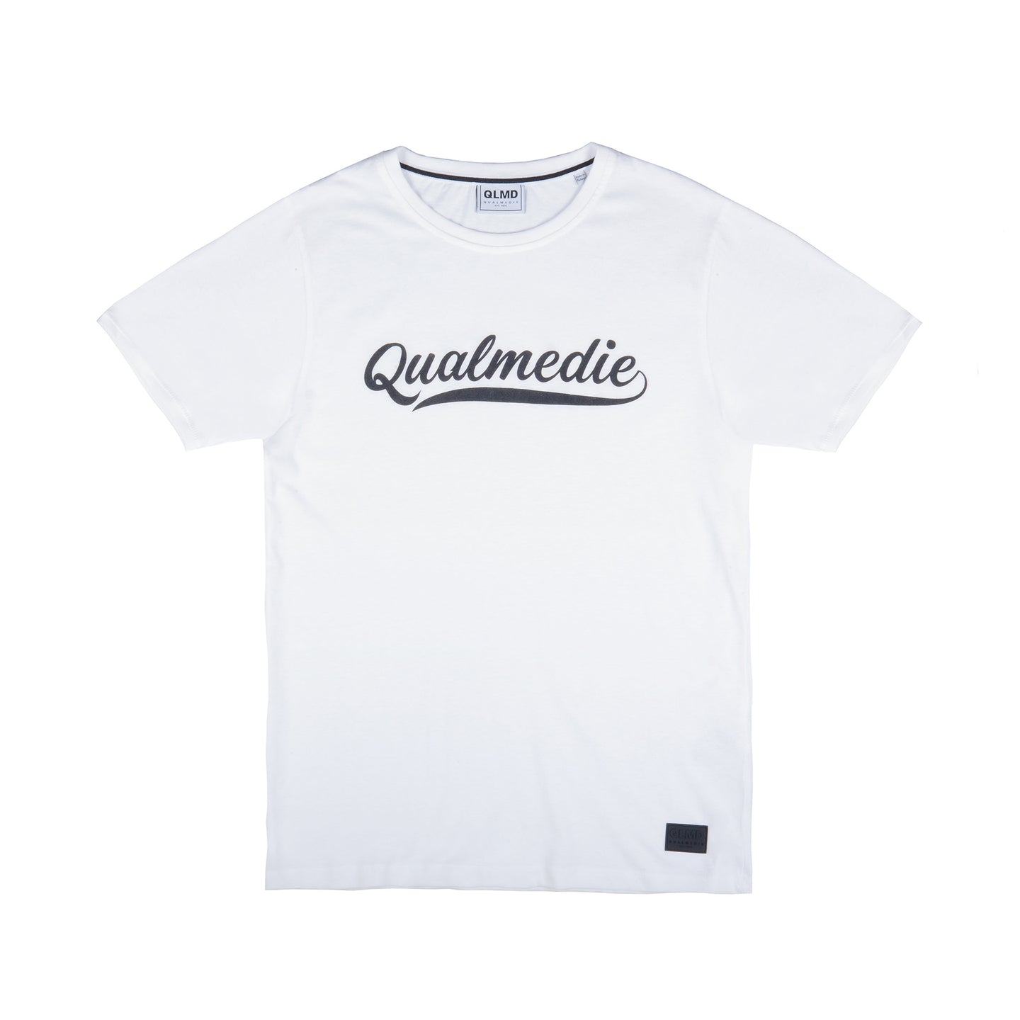 Qualmedie T-Shirt College weiß