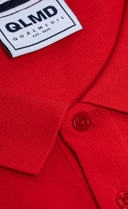 Polo-Shirt Qualmedie College rot