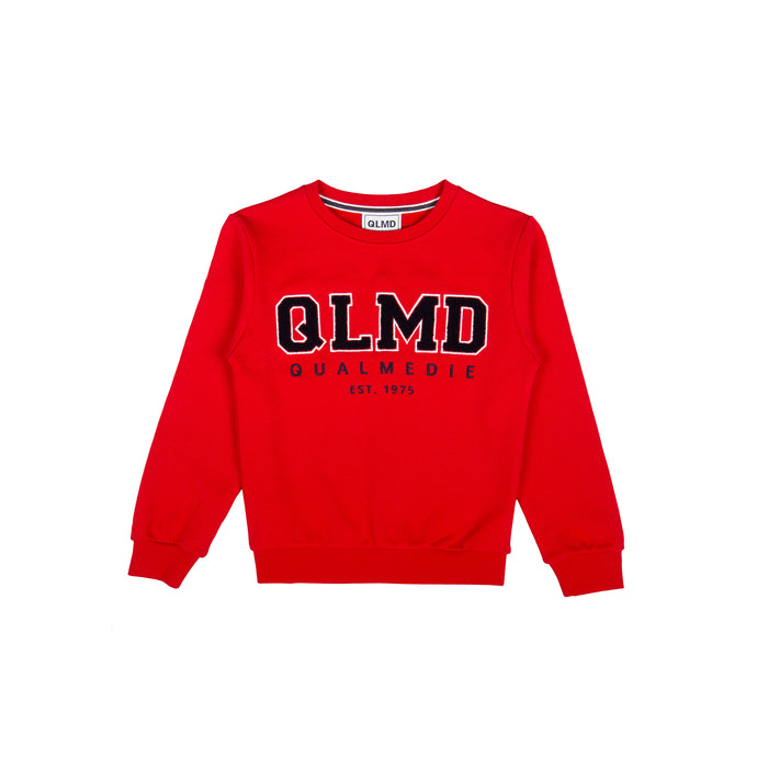 QLMD Kinder Sweater Frottee Rot