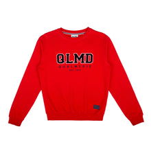Laden Sie das Bild in den Galerie-Viewer, QLMD Damen Sweater Frottee Rot