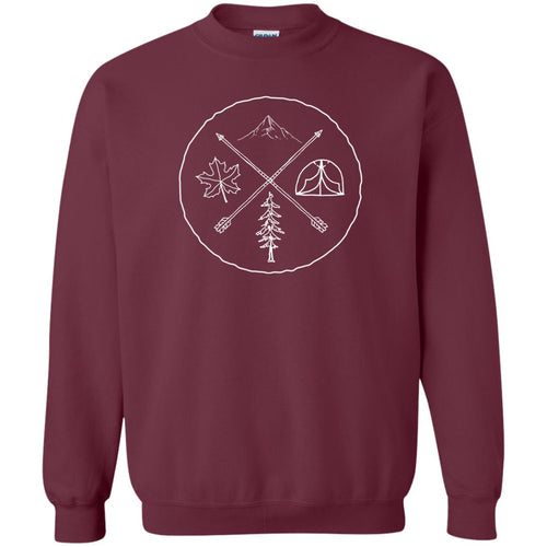 Camping cute graphic Nature Mountains sweater
