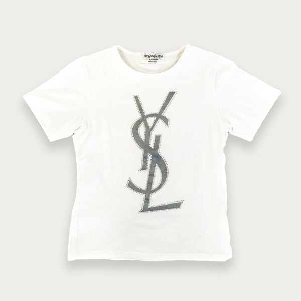 Yves Saint Laurent rhinestone t-shirt | before midnight vintage