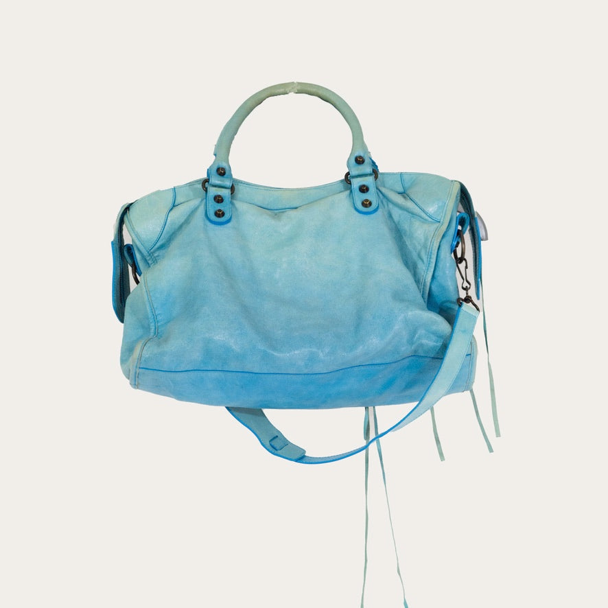 Balenciaga Blue City Bag | before midnight vintage