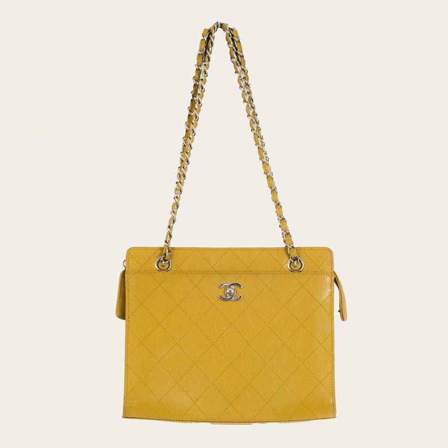 Chanel Shopping Tote Yellow | before midnight vintage