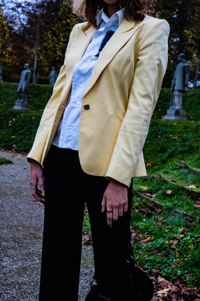 Yellow Fendi blazer | before midnight vintage