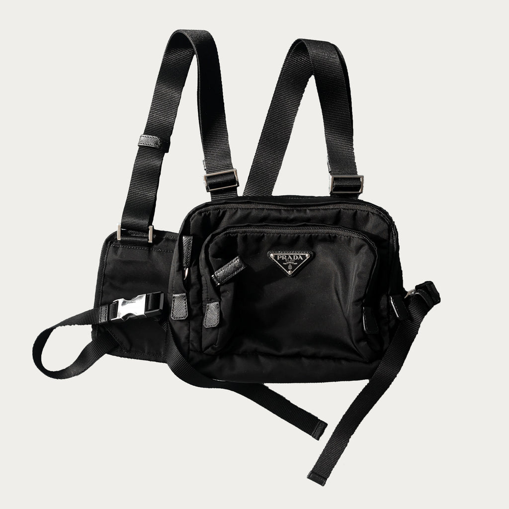 Prada Nylon Chest Bag | before midnight vintage
